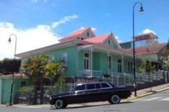 COSTA RICA VINTAGE MANSION CULTURE. MERCEDES 300D LIMO RIDES.