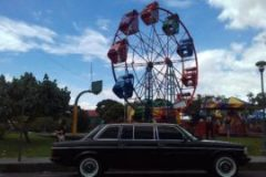 COSTA RICA FERRIS WHEEL. MERCEDES 300D AMUSEMENT PARK TRANSPORTATION